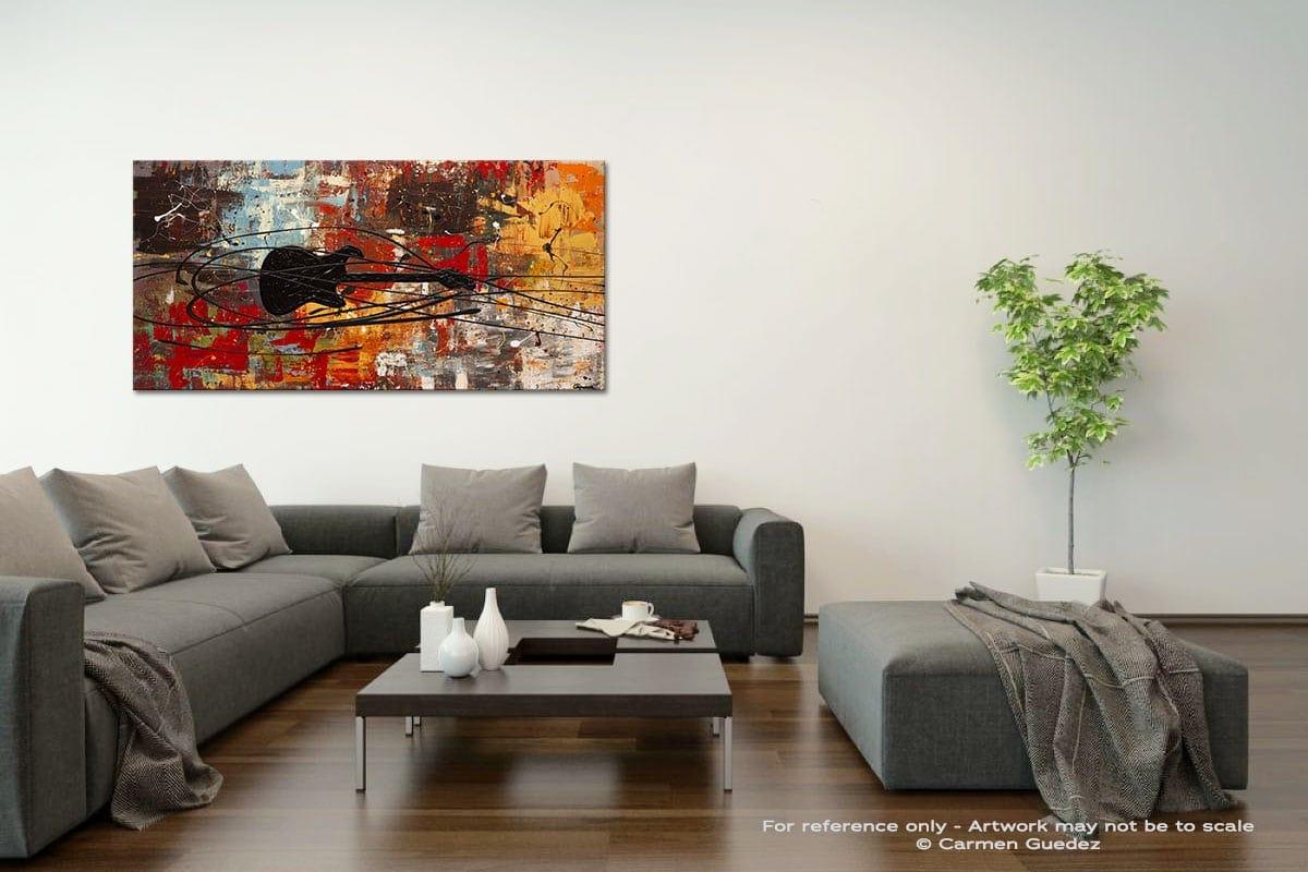 Feel The Freedom Acrylic Gray Wall Art Painting Id34