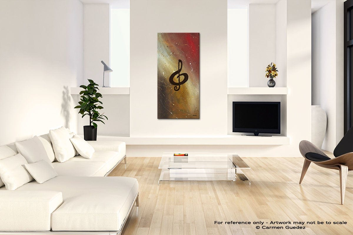 Filled With Music Modern Abstract Painting Home Design Id41