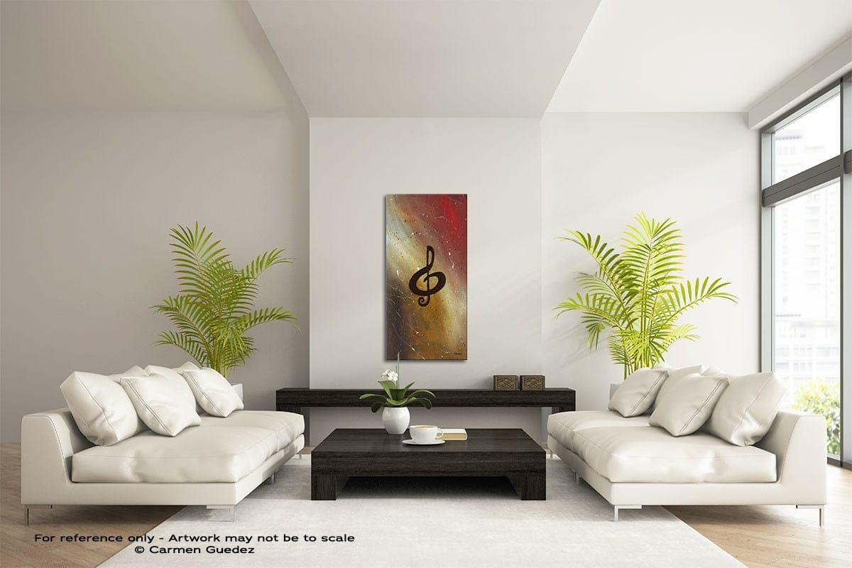 Filled With Music Vertical Abstract Art Painting Id43