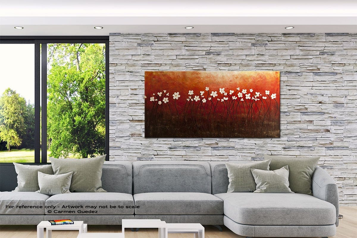 Floral Inspiration Abstract Canvas Painting Interior Decor Id33