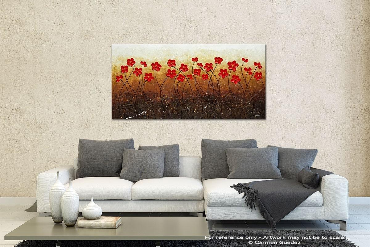 Flores De Mi Jardin Contemporary Abstract Art Id35
