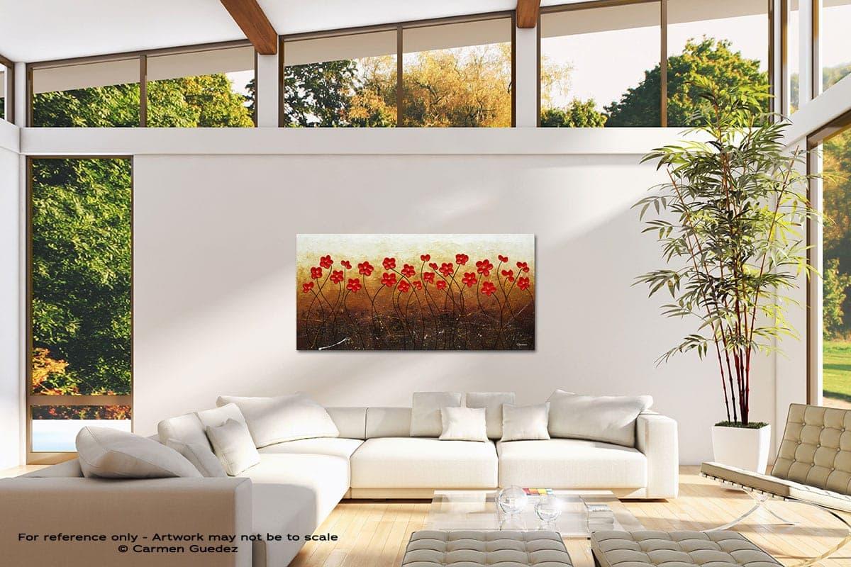 Flores De Mi Jardin Modern Canvas Abstract Art Id38