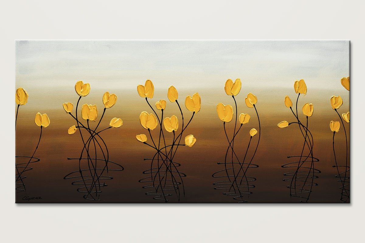 Flower Frenzy Abstract Wall Art Painting Id80