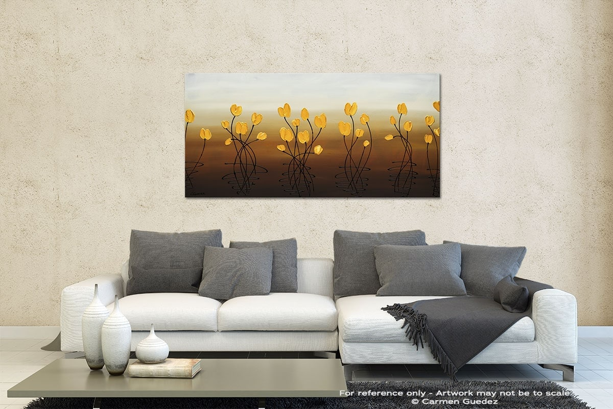 Flower Frenzy Contemporary Abstract Art Id35