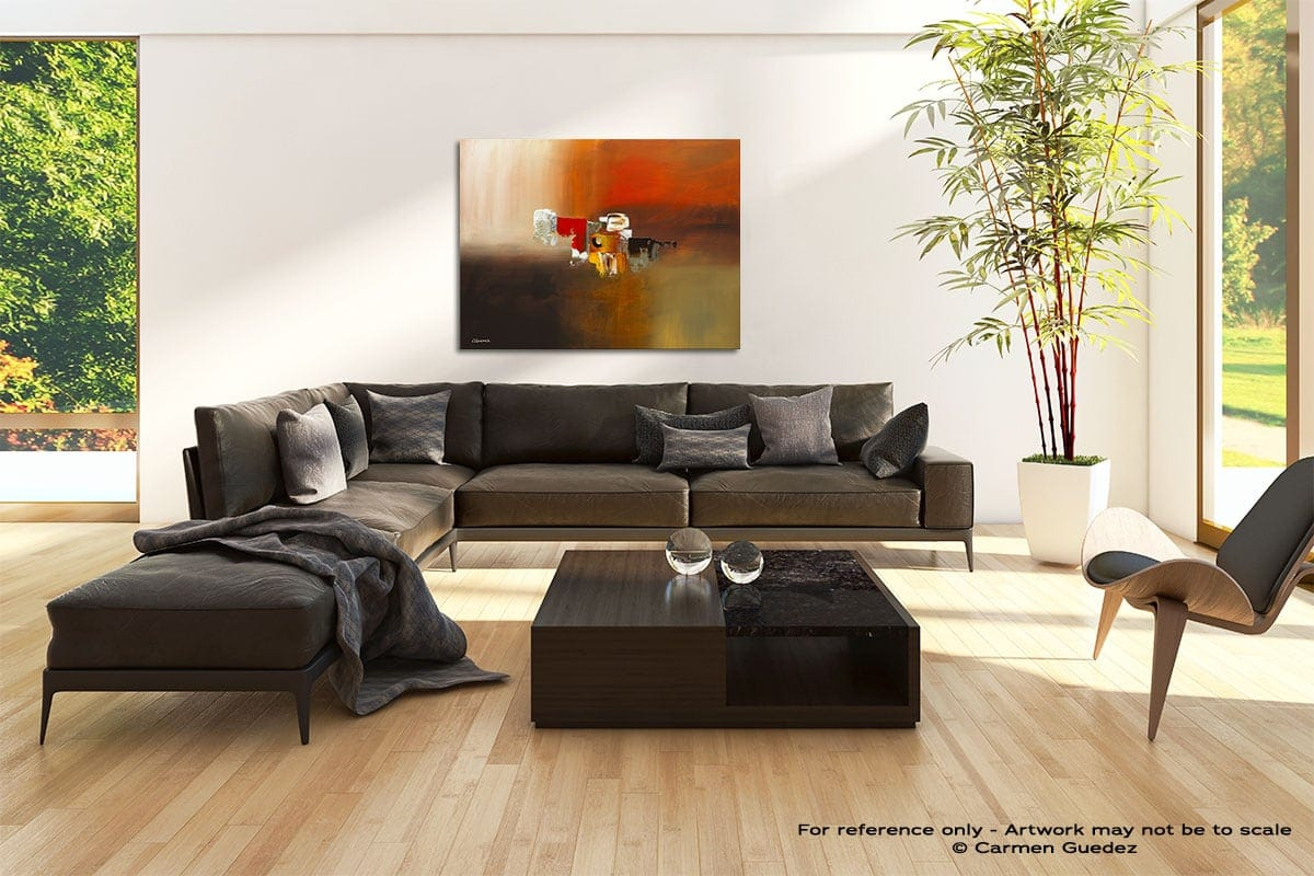 Fond Memories Abstract Painting Modern Home Id69