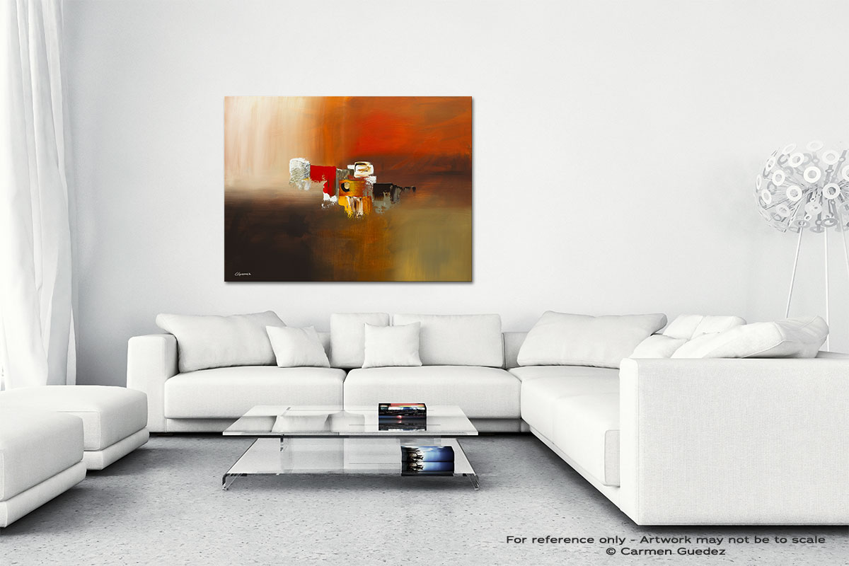 Fond Memories Canvas Art Abstract Painting Id47