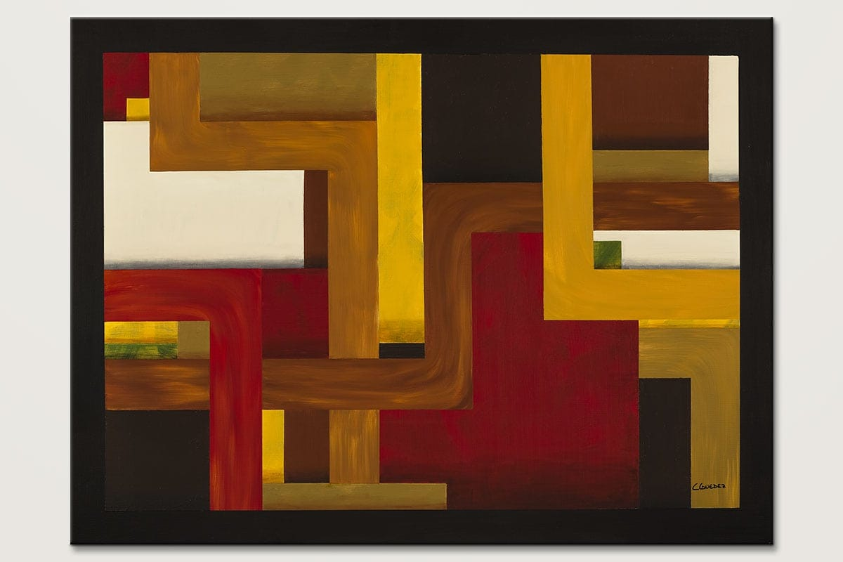 Modern Geometric Art Painting Fortaleza Original Colorful Abstract Paintings For Sale