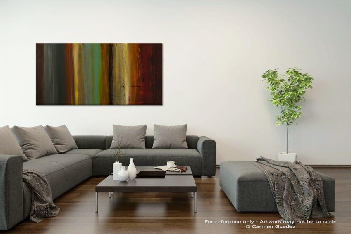 Free Flow Acrylic Gray Wall Art Painting Id34