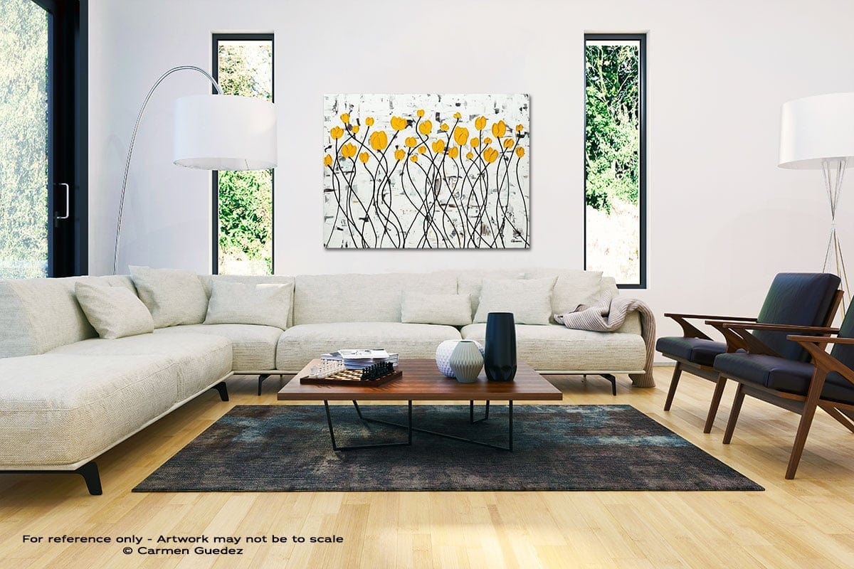Fresh Picked Flowers Black And White Interior Decor Abstract Art Id46