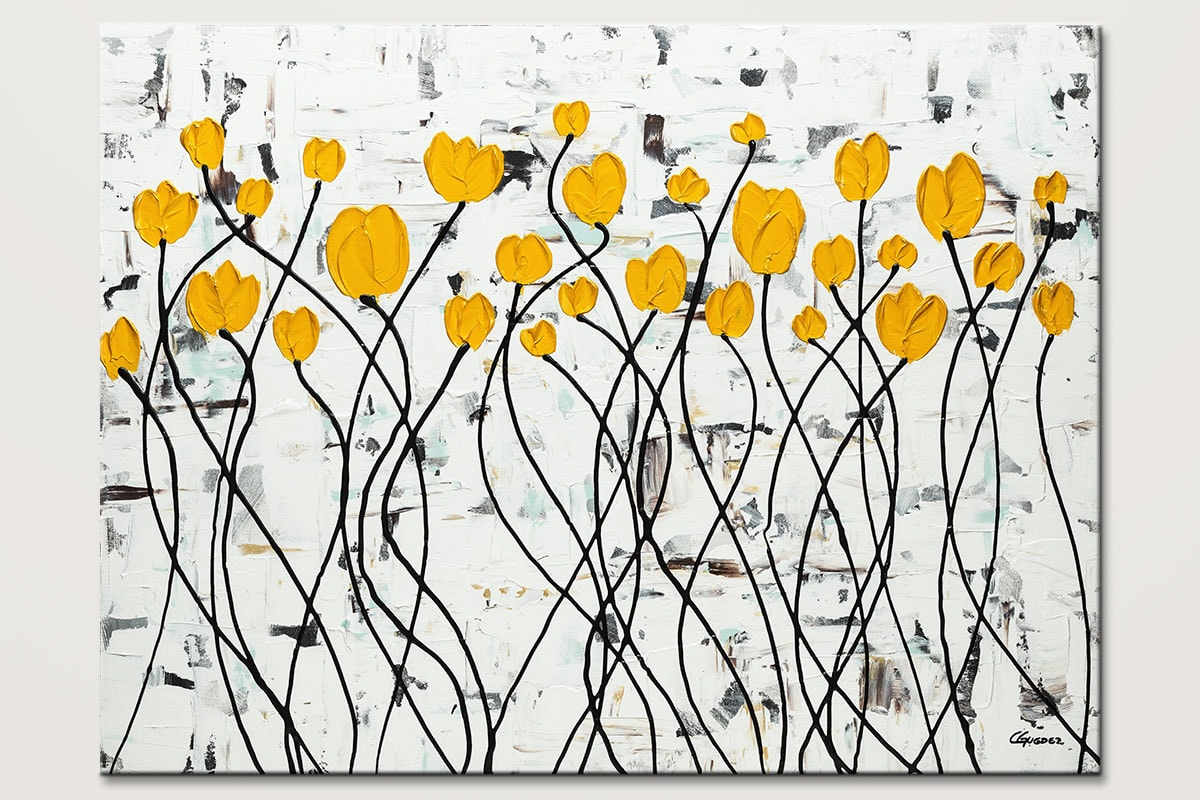Fresh Picked Flowers Floral Abstract Painting Id80