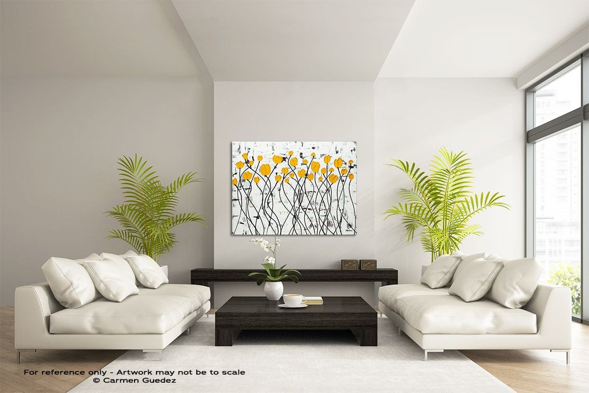 Fresh Picked Flowers Large Modern Abstract Art Painting Id49