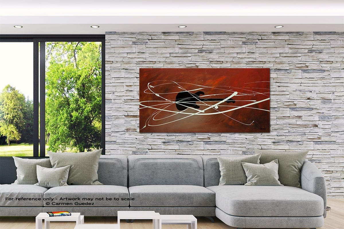 Gitarre Abstract Canvas Painting Interior Decor Id33