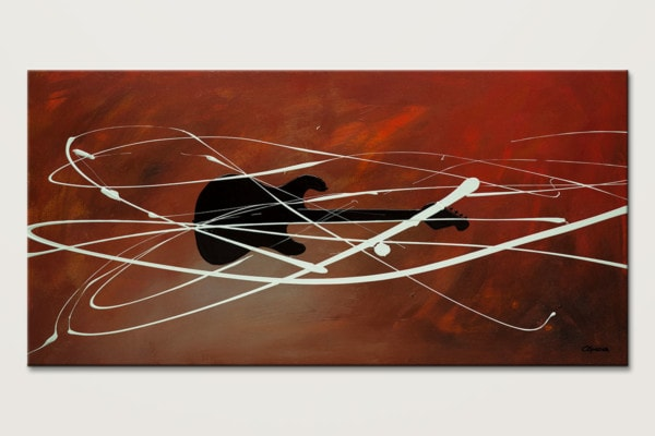 Gitarre Guitar Abstract Art Painting Id80