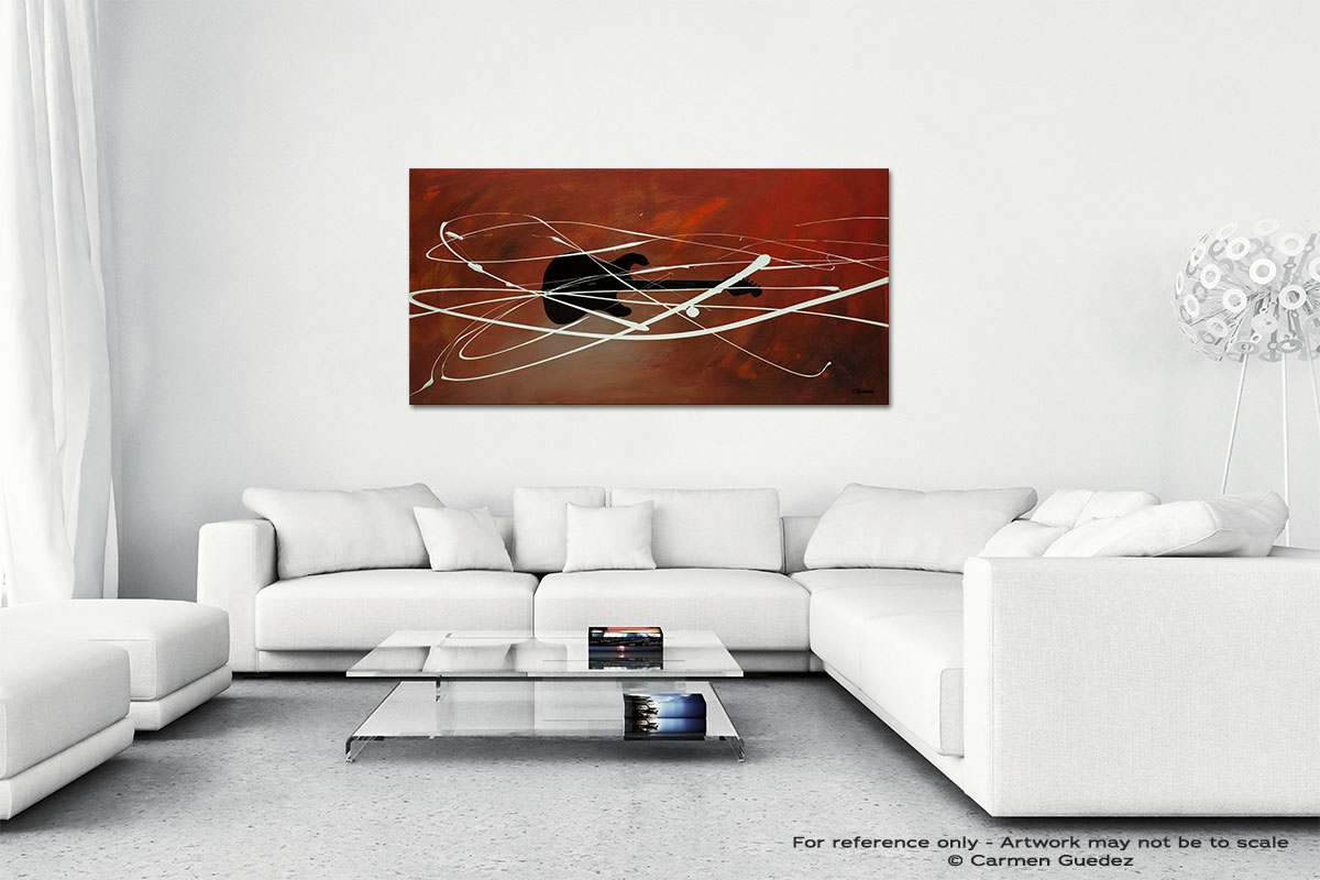 Gitarre Wall Art Canvas Painting Id40