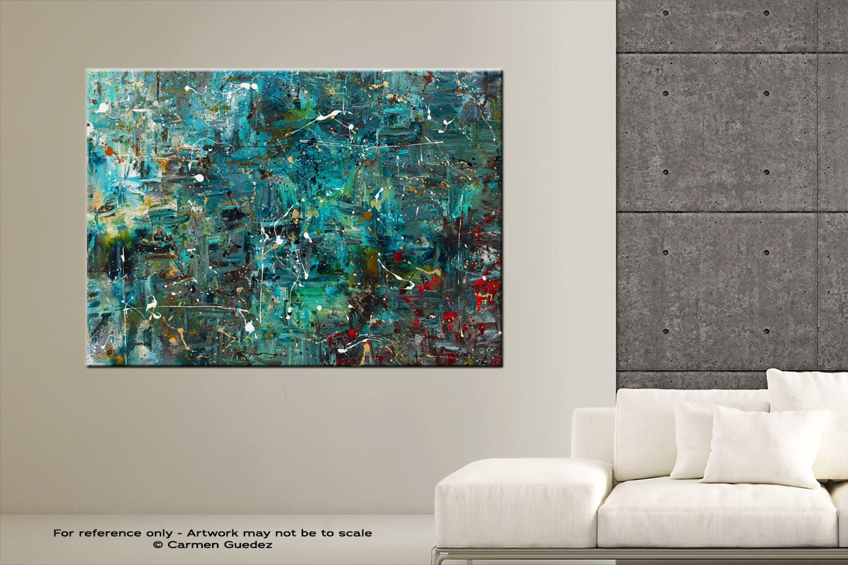 Go For It Abstract Art Modern Painting Large Id76