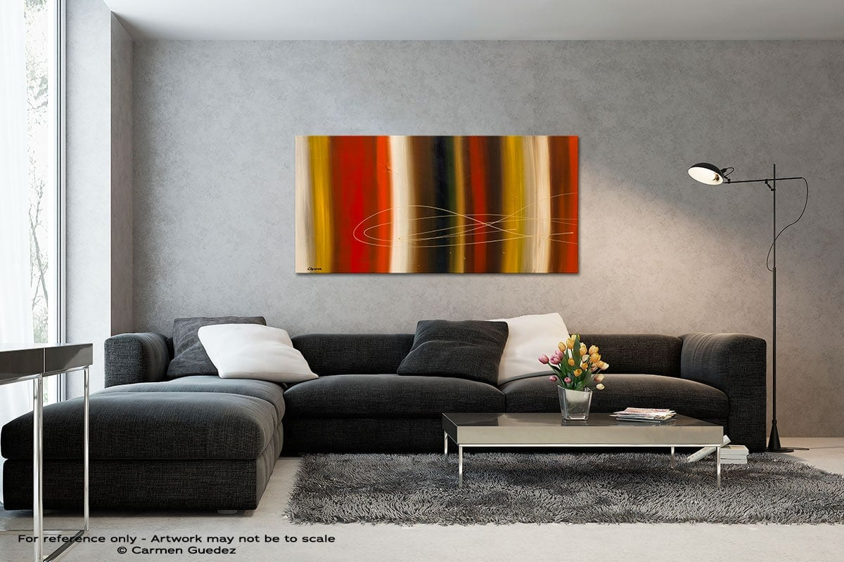 Gold Rush Black And White Wall Abstract Art Painting Id70