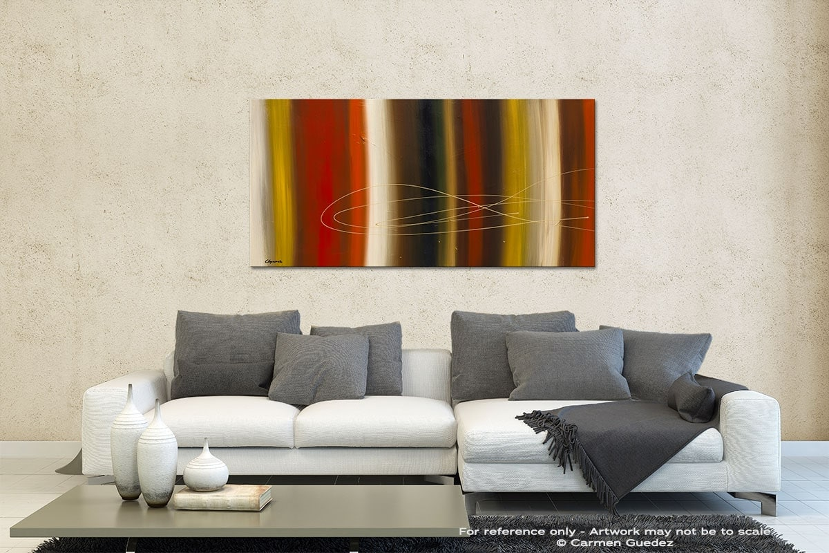 Gold Rush Contemporary Abstract Art Id35
