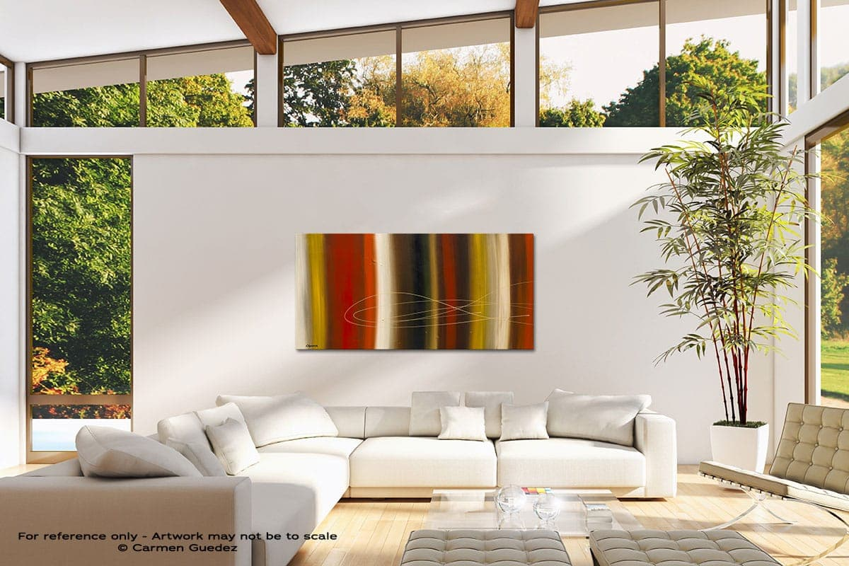 Gold Rush Modern Canvas Abstract Art Id38