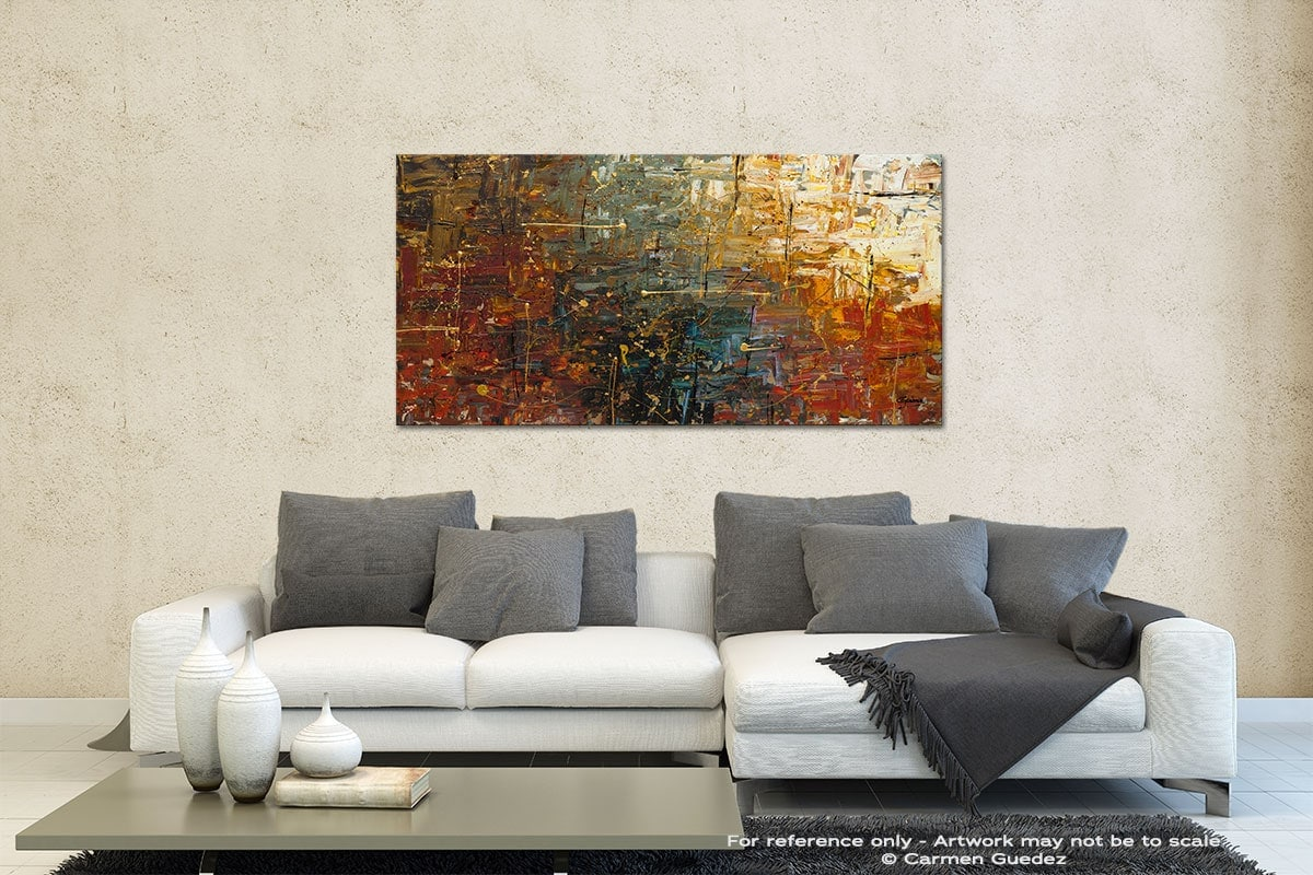 Gold Splash Contemporary Abstract Art Id35