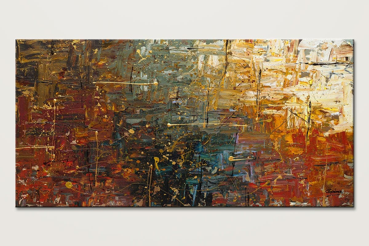 Original Abstract Art Painting For Sale Gold Splash Buy