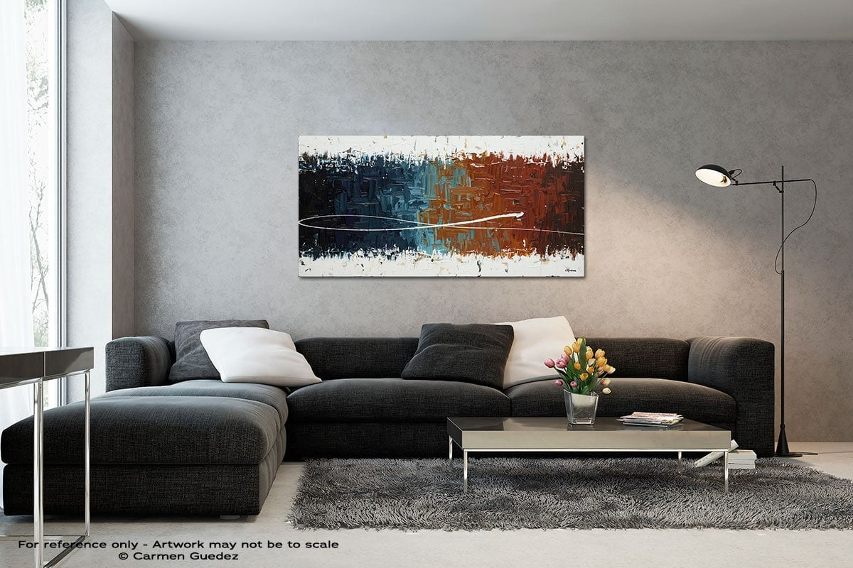 Good Feeling Black And White Wall Abstract Art Painting Id70