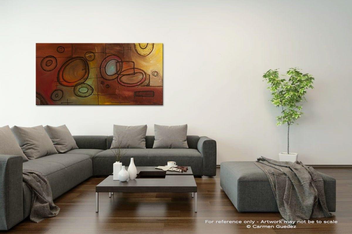 Googlit Acrylic Gray Wall Art Painting Id34