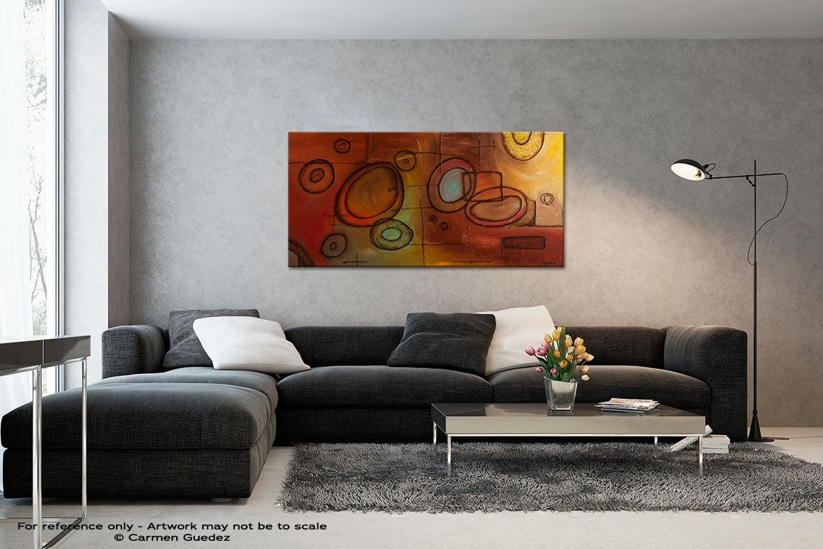 Googlit Black And White Wall Abstract Art Painting Id70