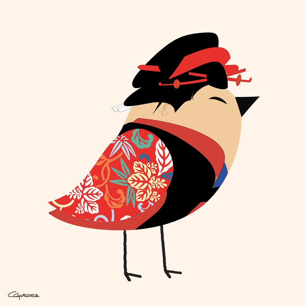 Graceful Li Bird Nft Art
