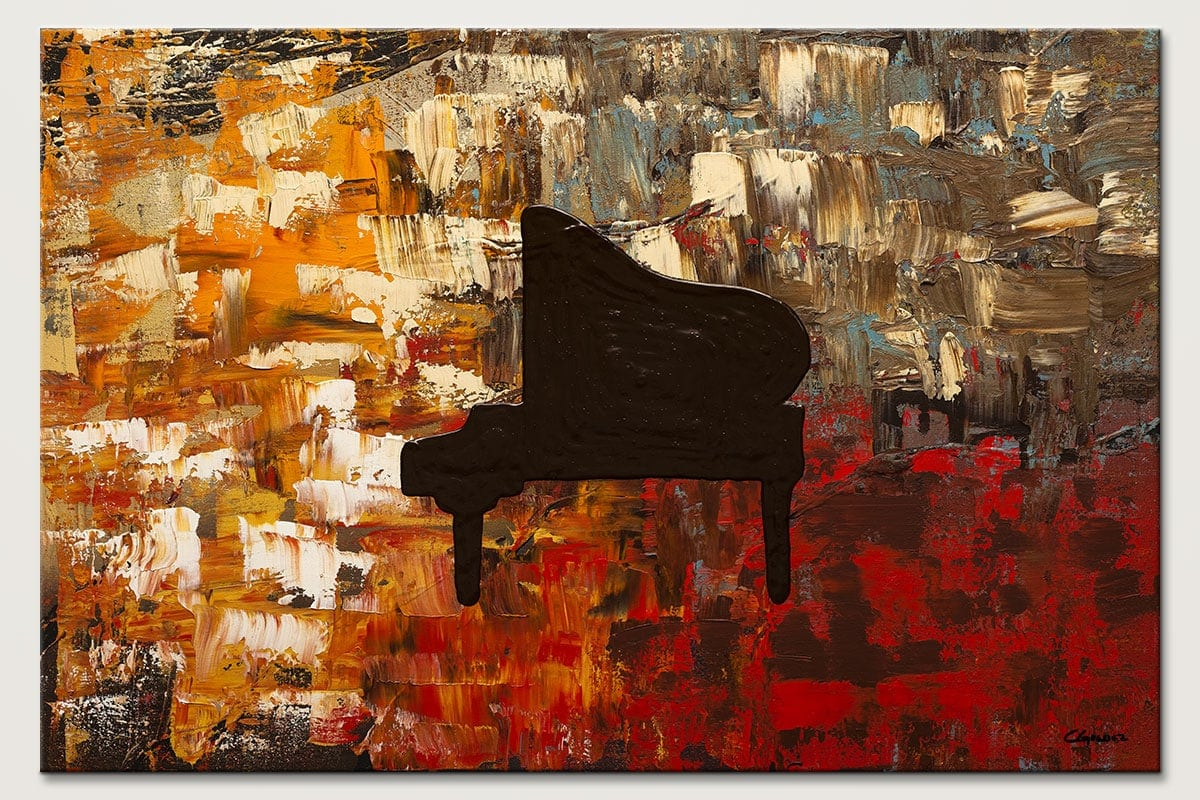 Grand Piano - Abstract Art Painting Image by Carmen Guedez