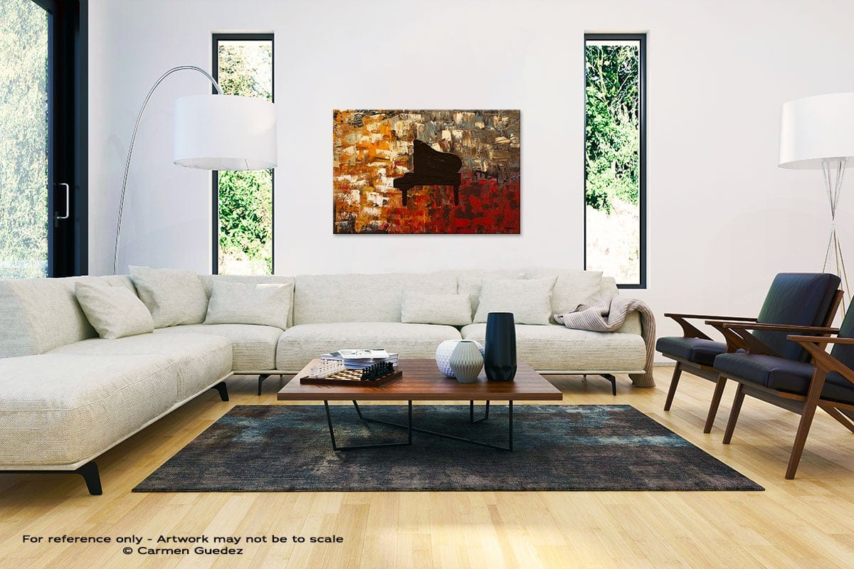 Grand Piano Abstract Painting Interior Decor Art Id61