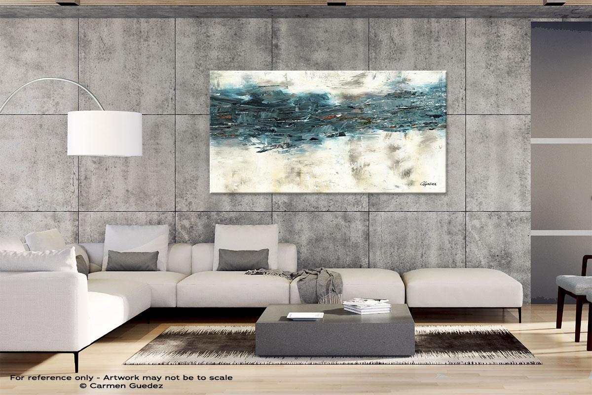 Gray Abstract Wall Art Id4 High Tide