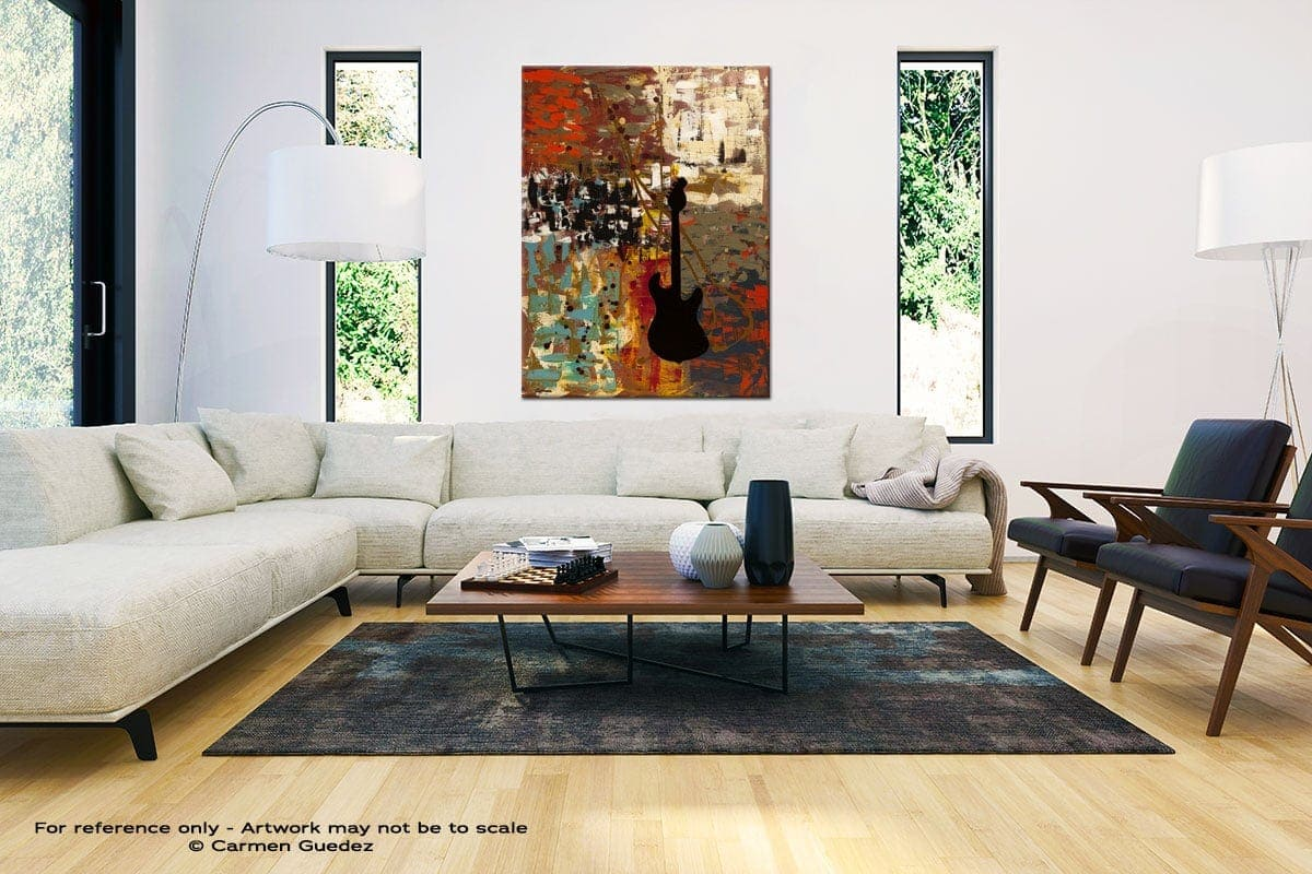 Guitar Quest Large Vertical Wall Art Painting Id53