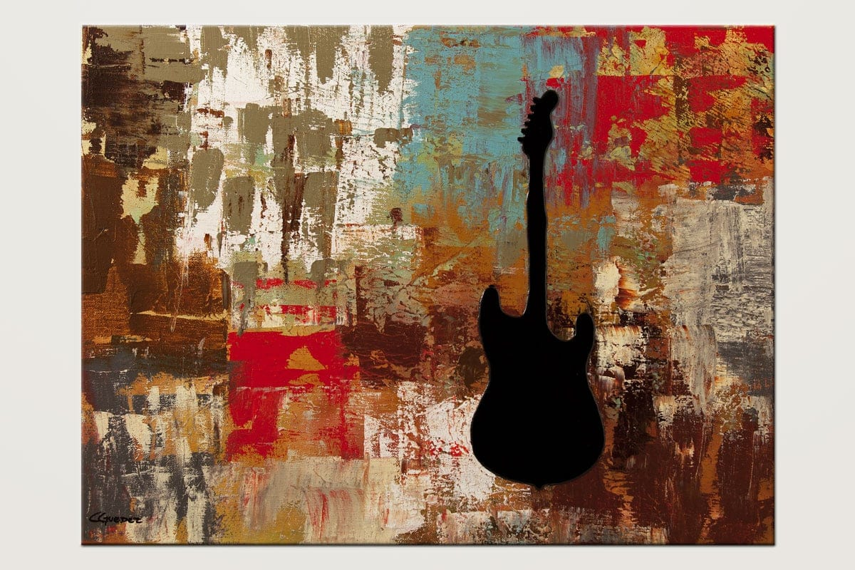 Guitar Solo - Abstract Art Painting Image by Carmen Guedez