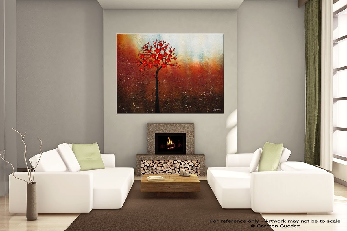 Handmade Canvas Abstract Art Id29 Dreamy Nature