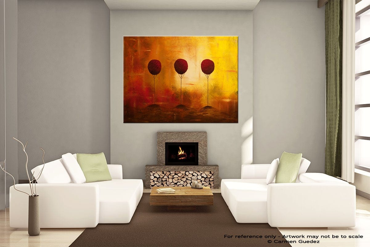 Handmade Canvas Abstract Art Id29 Three Alone But Together