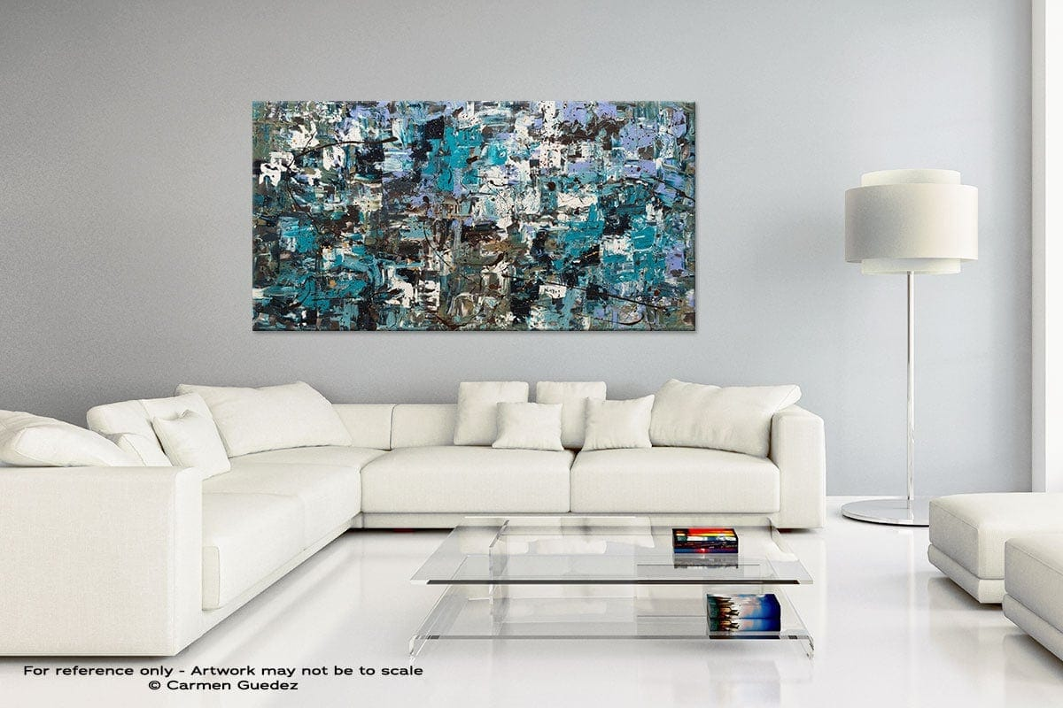 Handmade Canvas Art Painting Home Id5 Beach And Mountains