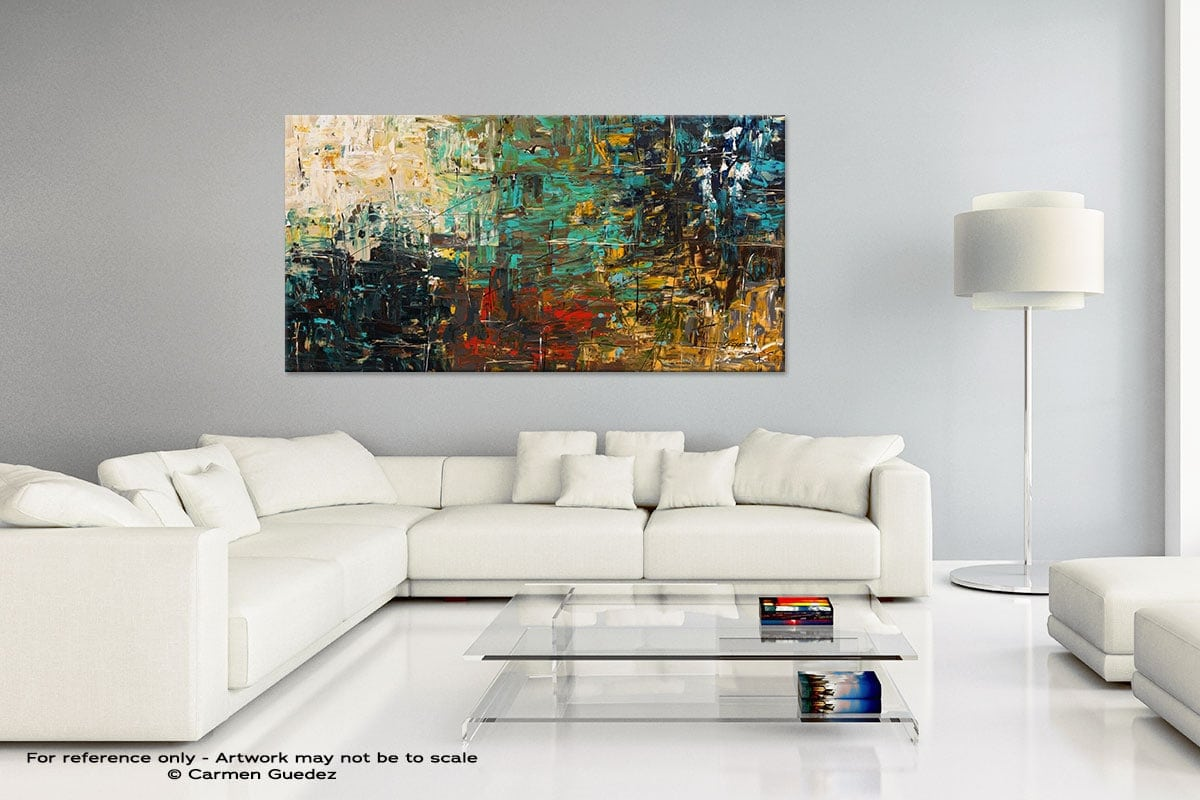 Handmade Canvas Art Painting Home Id5 City Life