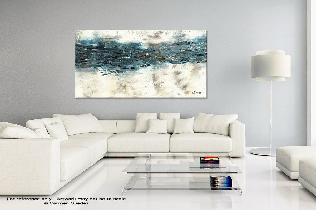 Handmade Canvas Art Painting Home Id5 High Tide