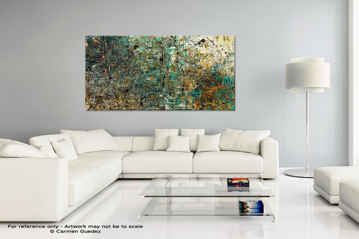 Handmade Canvas Art Painting Home Id5 The Abstract Concept