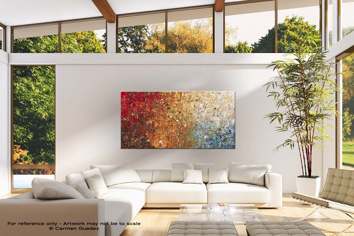 Happy Place Modern Canvas Abstract Art Id38