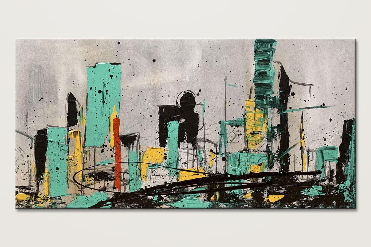 Hashtag City Modern Cityscape Abstract Art Id80