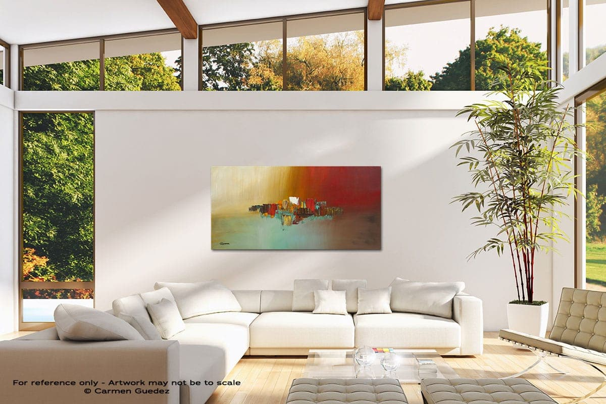 Hashtag Happy Modern Canvas Abstract Art Id38