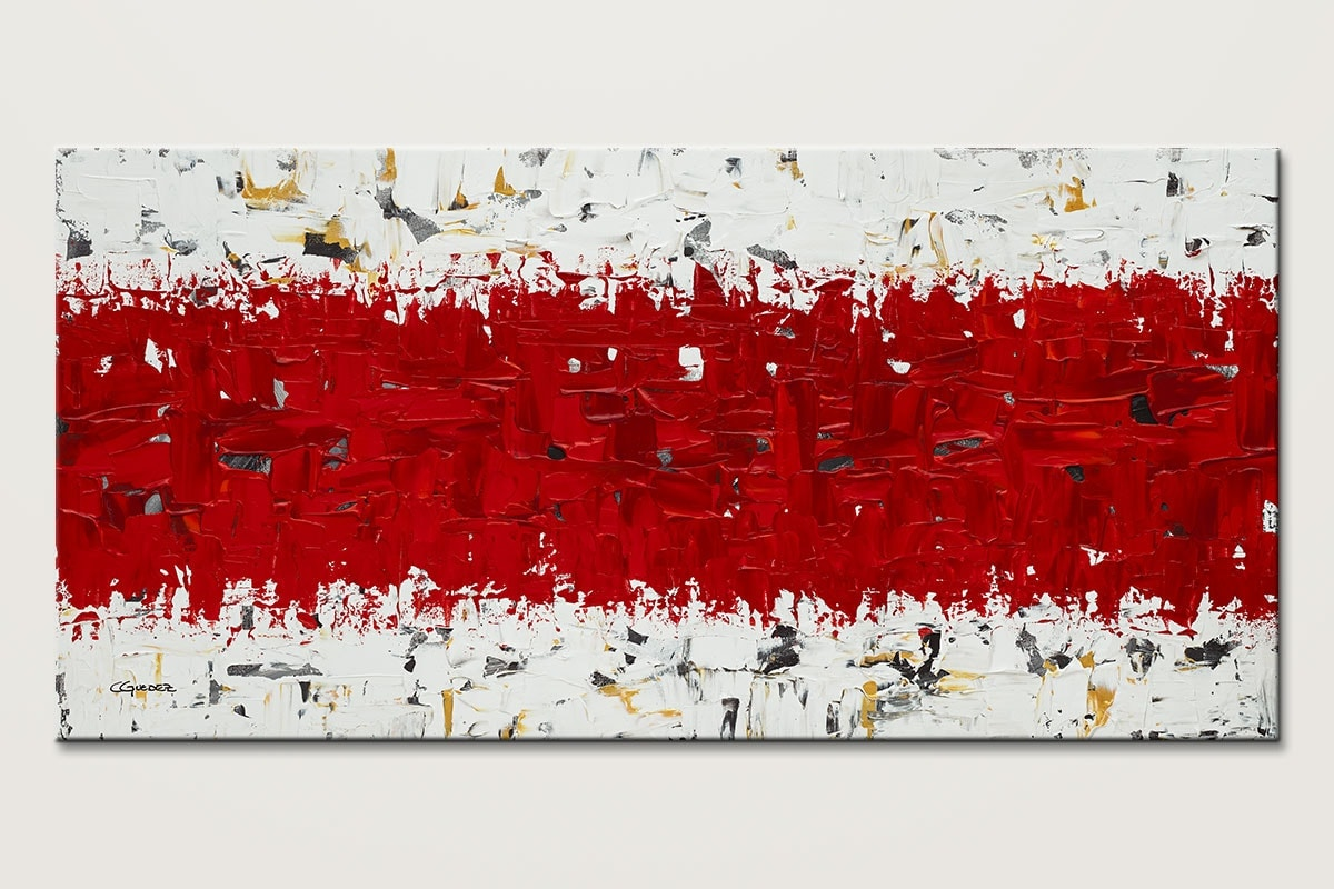 Hashtag Red Original Canvas Art Painting Id80