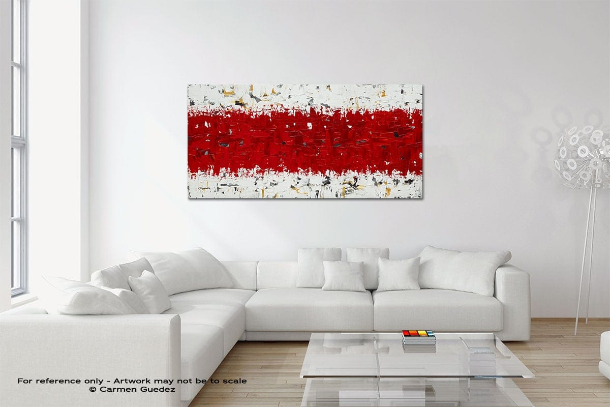 Hashtag Red Original Neutral Abstract Wall Art Room Id39