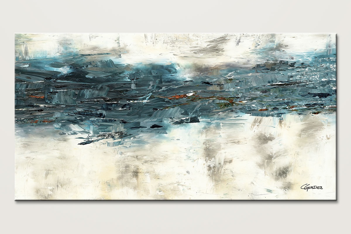 Large abstract painting high tide oversize canvas art for Abstract salon of the arts