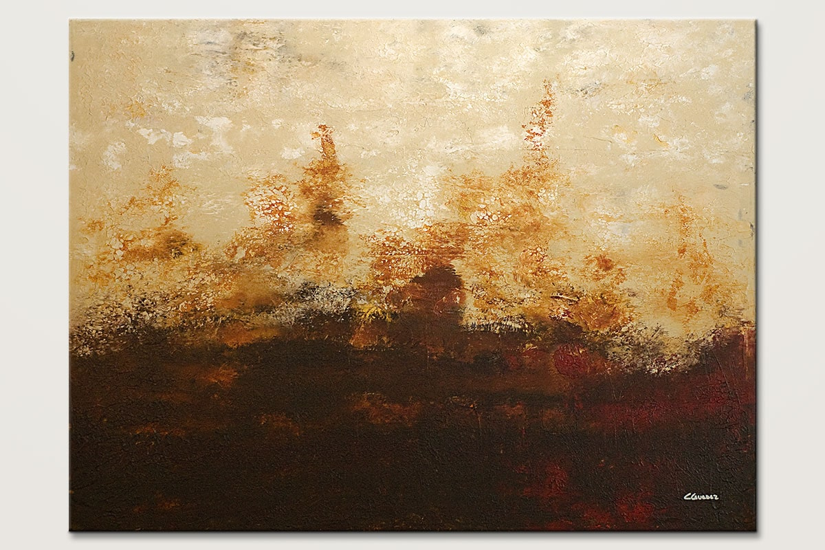 Horizonte - Abstract Art Painting Image by Carmen Guedez