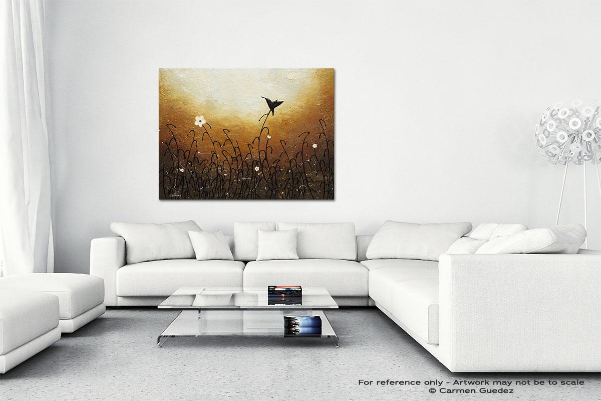 Humming Along Canvas Art Abstract Painting Id47