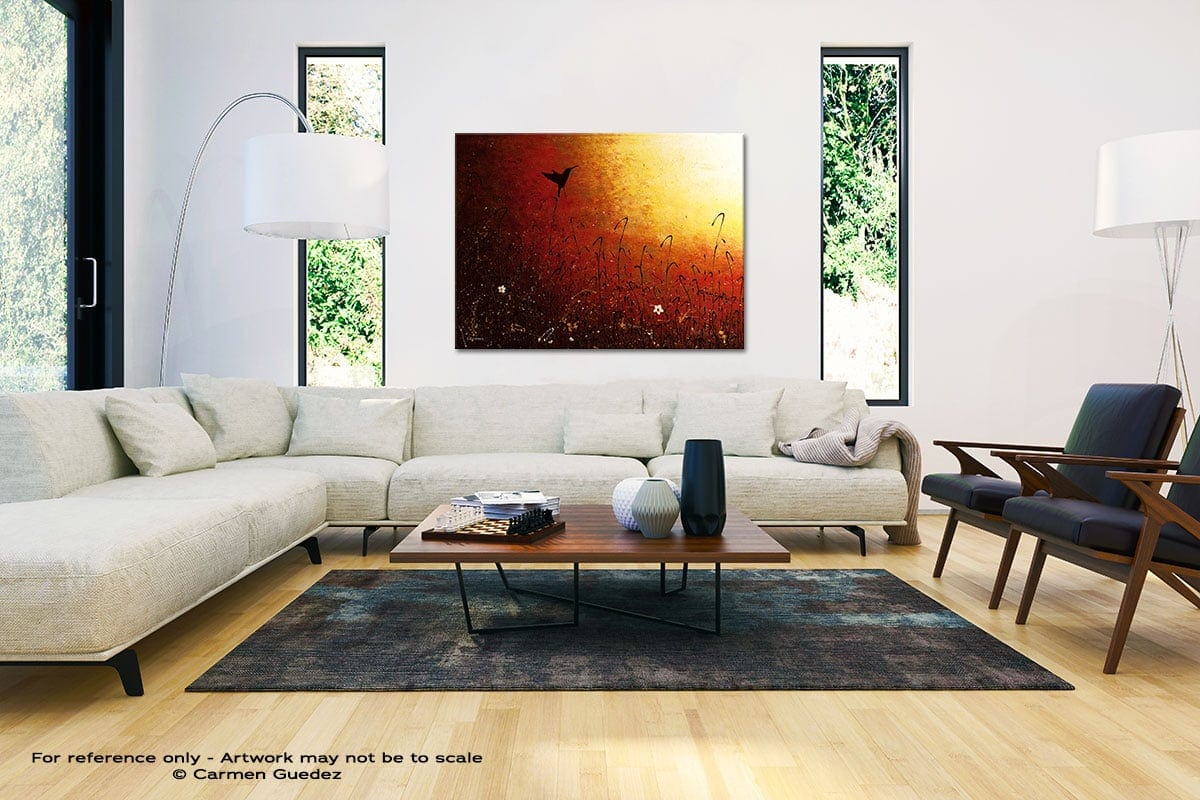 Hummingbird Black And White Interior Decor Abstract Art Id46