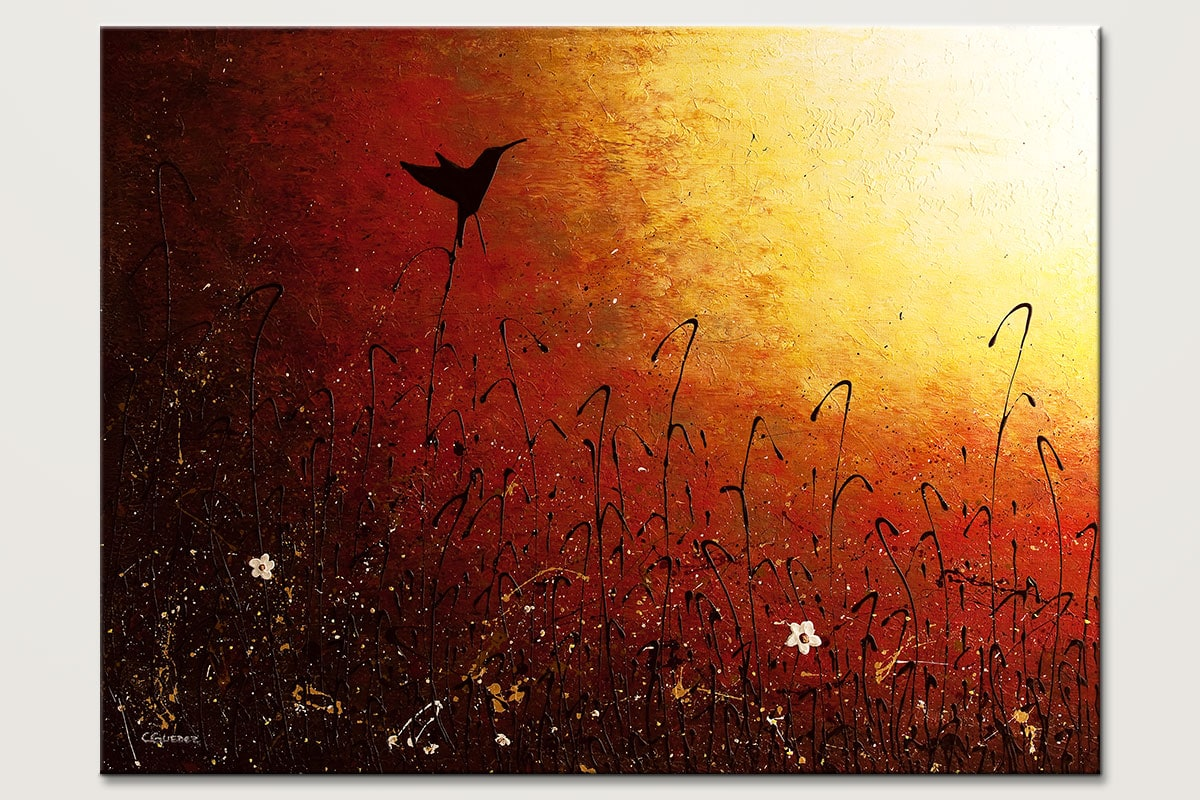 Hummingbird - Abstract Art Painting Image by Carmen Guedez
