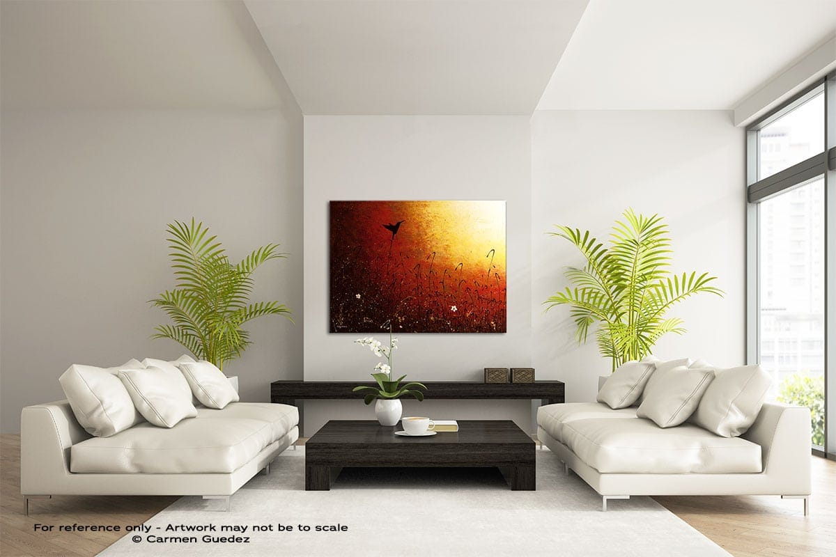 Hummingbird Large Modern Abstract Art Painting Id49
